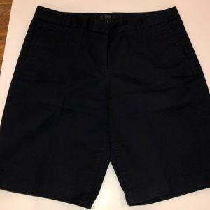 J Crew navy blue bermuda shorts.  Size 6